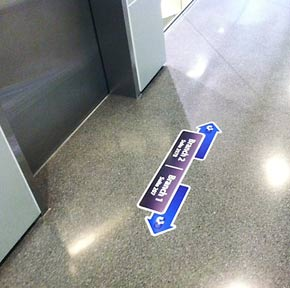 Vinyl Floor Decals U0026 Stickers | Flooring Graphics   Orange County Signs