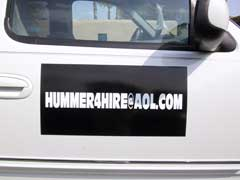 Vehicle graphics hummer4hire