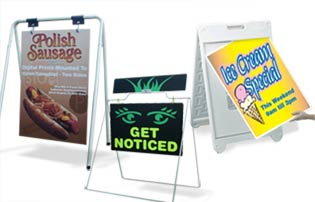a frame signs sandwich board sidewalk signs