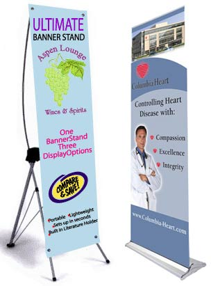 Banner Stands Retractable Roll Up And Displays