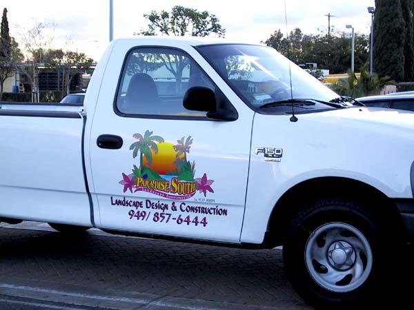 Large vehicle decal digital vehicle decals truck door decal