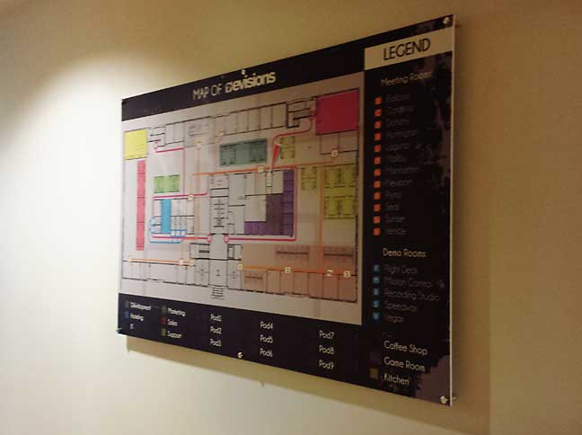 wall directory map
