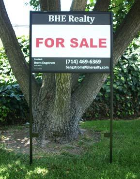 real estate framed yard sign - Yard Sign Frames